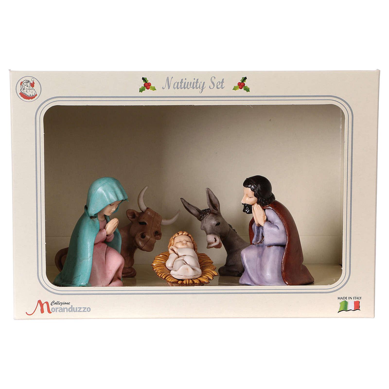 PVC Holy Family for Moranduzzo Nativity scene 7 cm 5 pieces, Children's Line 4