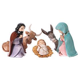 PVC Holy Family for Moranduzzo Nativity scene 7 cm 5 pieces, Children's Line s1