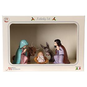 PVC Holy Family for Moranduzzo Nativity scene 7 cm 5 pieces, Children's Line s8