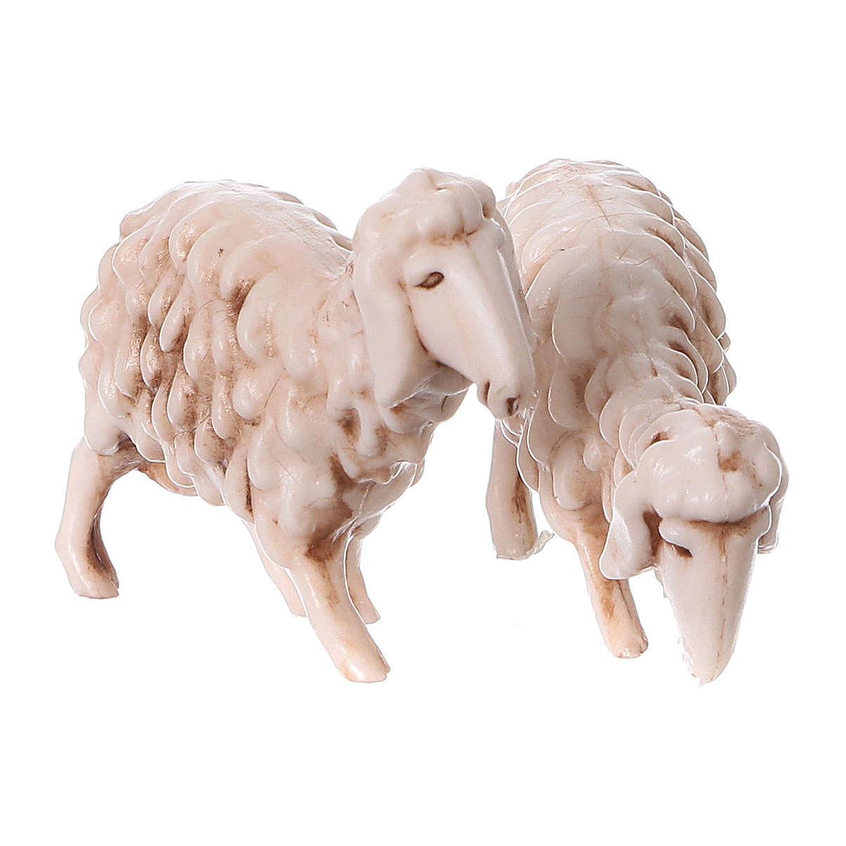 Shepherds with sheep in coloured PVC, Moranduzzo Nativity scene 7 cm, Children's Line 4