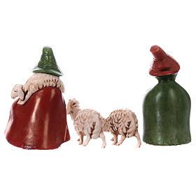 Shepherds with sheep in coloured PVC, Moranduzzo Nativity scene 7 cm, Children's Line s5