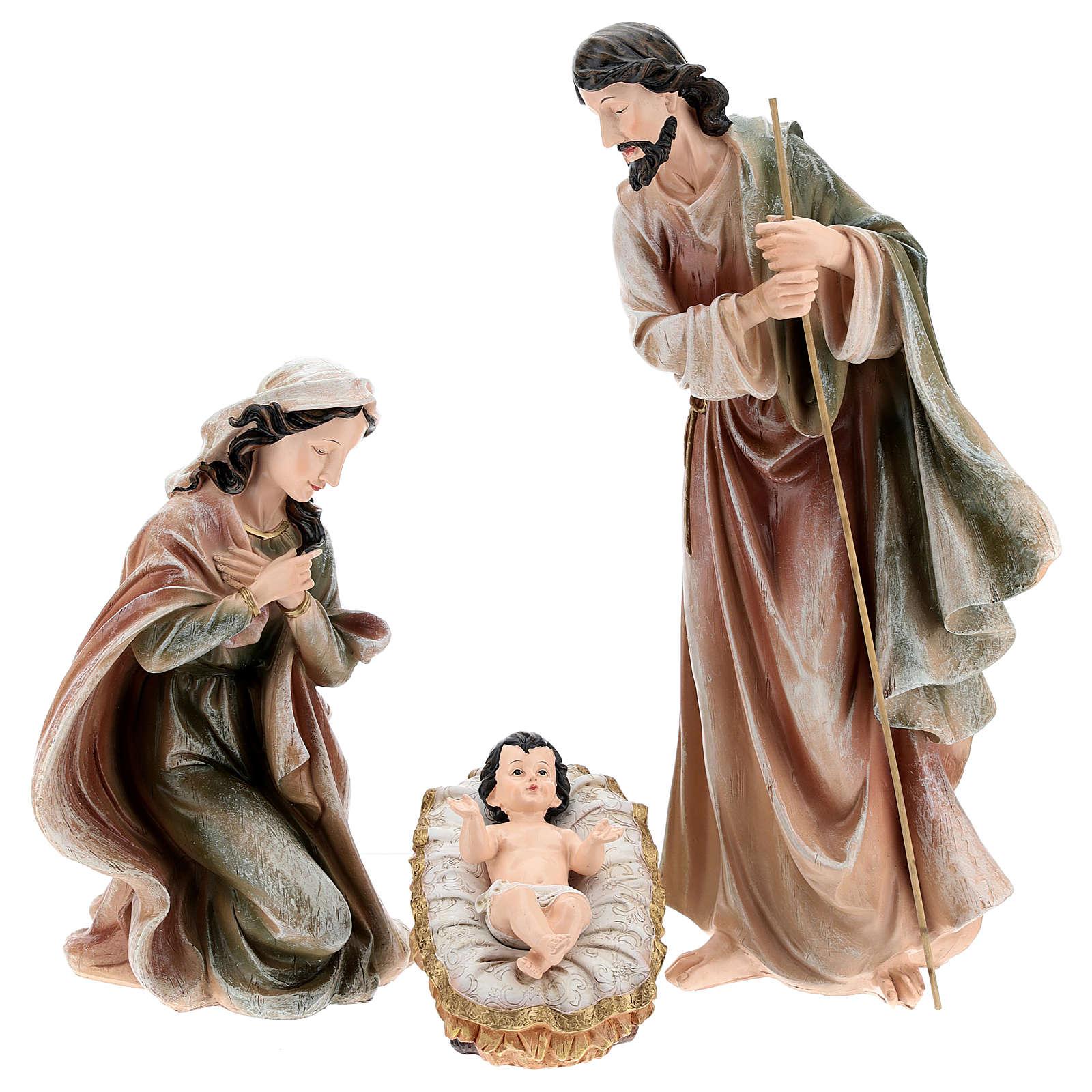 Nativité en résine peinte 40 cm 3