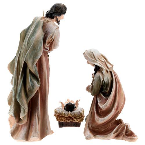 Nativité en résine peinte 40 cm 7