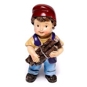 Estatua carpintero línea niño para belenes de 9 cm s1