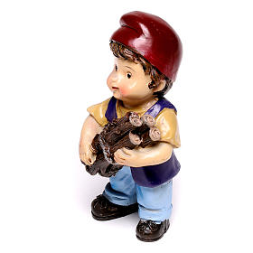 Estatua carpintero línea niño para belenes de 9 cm s2