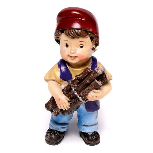 Estatua carpintero línea niño para belenes de 9 cm 1