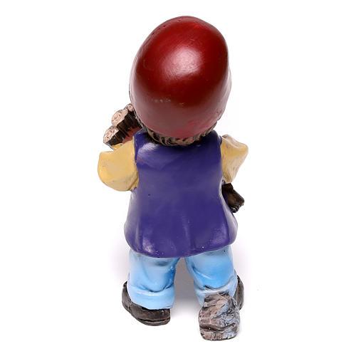 Estatua carpintero línea niño para belenes de 9 cm 3