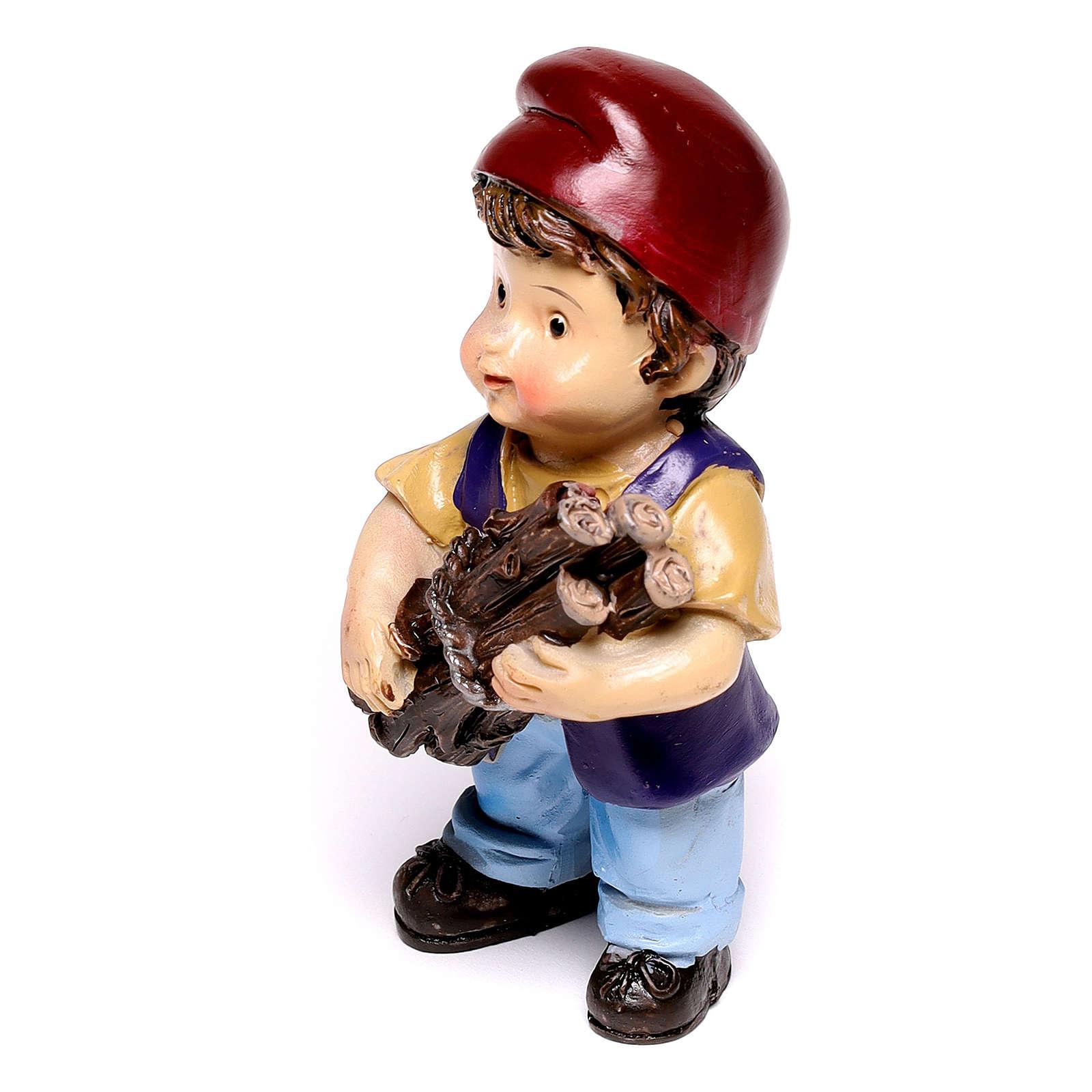 Santon bûcheron gamme enfant pour crèche de 9 cm 3