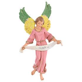 Anjo Glória cor-de-rosa para presépio Fontanini com figuras de 30 cm de altura  média s1
