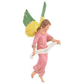 Anjo Glória cor-de-rosa para presépio Fontanini com figuras de 30 cm de altura  média s3