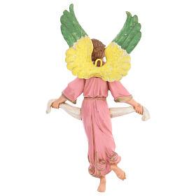 Anjo Glória cor-de-rosa para presépio Fontanini com figuras de 30 cm de altura  média s4