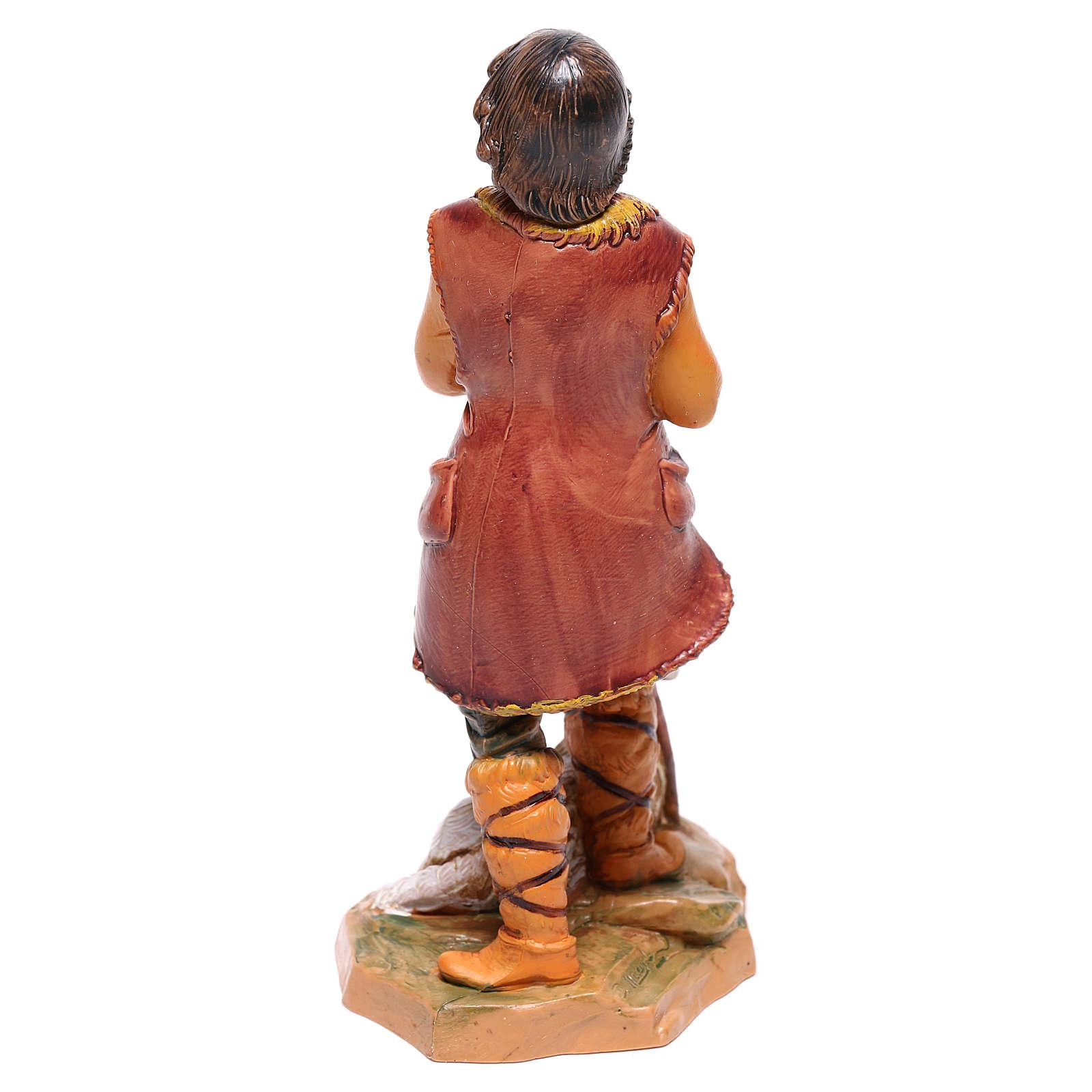 Pastore con pecora presepe Fontanini 12 cm 4