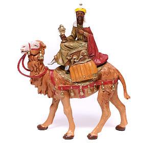 Tres Reyes Magos y camellos para belén Fontanini 10 cm s2