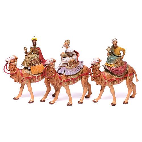 Tres Reyes Magos y camellos para belén Fontanini 10 cm 1