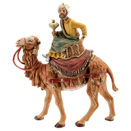 Tres Reyes Magos y camellos para belén Fontanini 10 cm 3