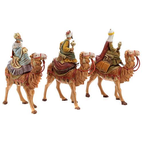 Tres Reyes Magos y camellos para belén Fontanini 10 cm 5