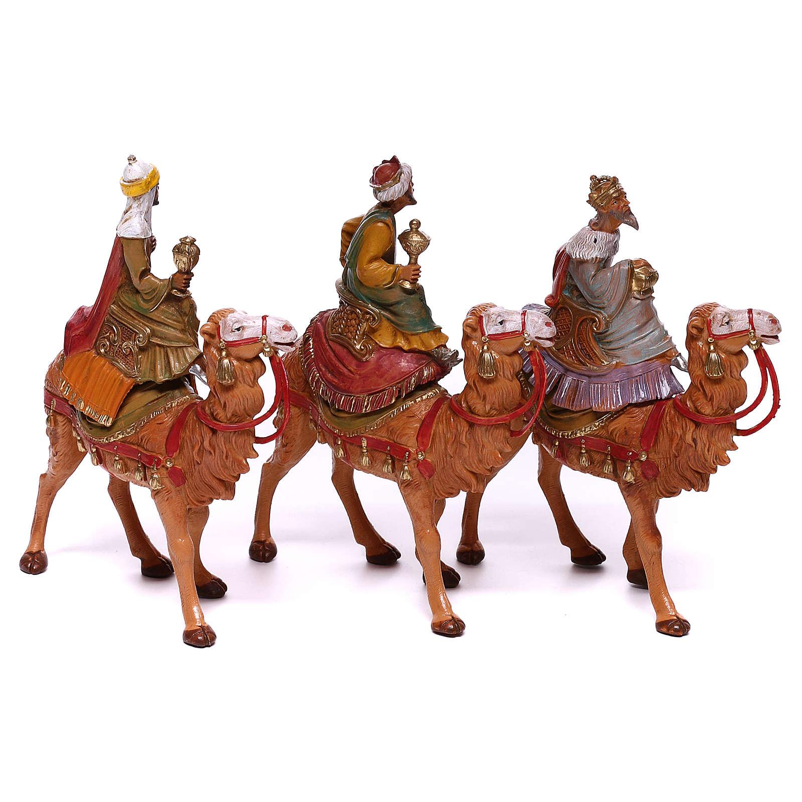 Rois Mages sur chameaux pour crèche Fontanini 10 cm 4