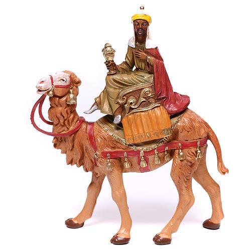 Rois Mages sur chameaux pour crèche Fontanini 10 cm 2