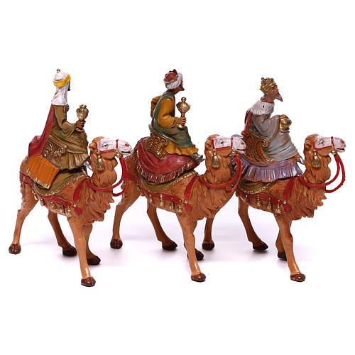 Rois Mages sur chameaux pour crèche Fontanini 10 cm 5