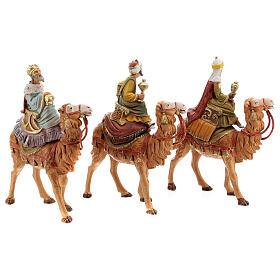 Reis Magos nos camelos para presépio Fontanini com figuras de 10 cm de altura média s5