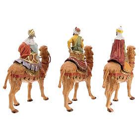 Reis Magos nos camelos para presépio Fontanini com figuras de 10 cm de altura média s6