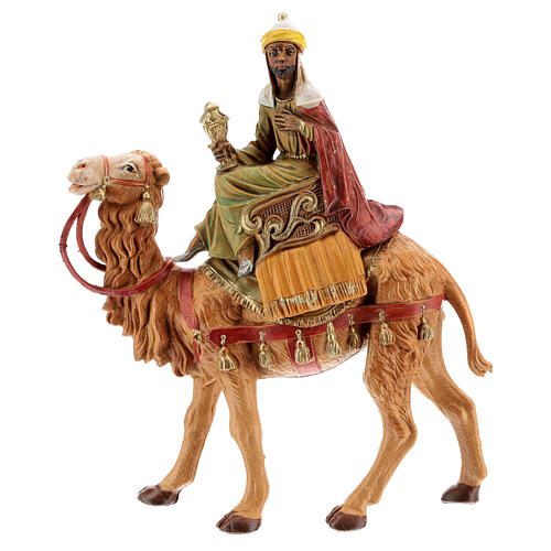 Reis Magos nos camelos para presépio Fontanini com figuras de 10 cm de altura média 2