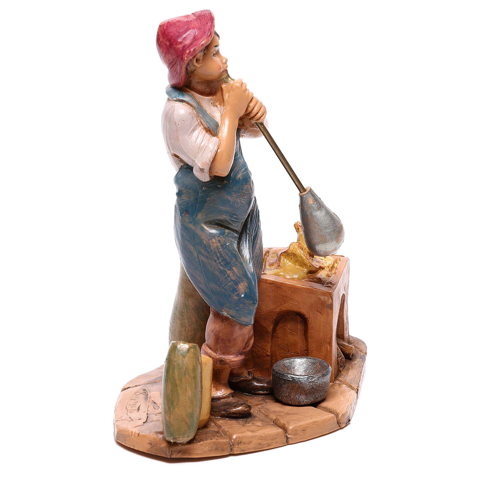 Pasterz wydmuchujący szkło Szopka Fontanini 12 cm 4