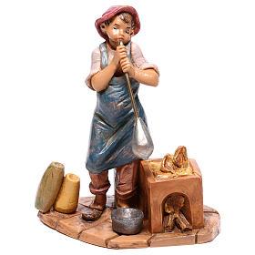 Pasterz wydmuchujący szkło Szopka Fontanini 12 cm s1