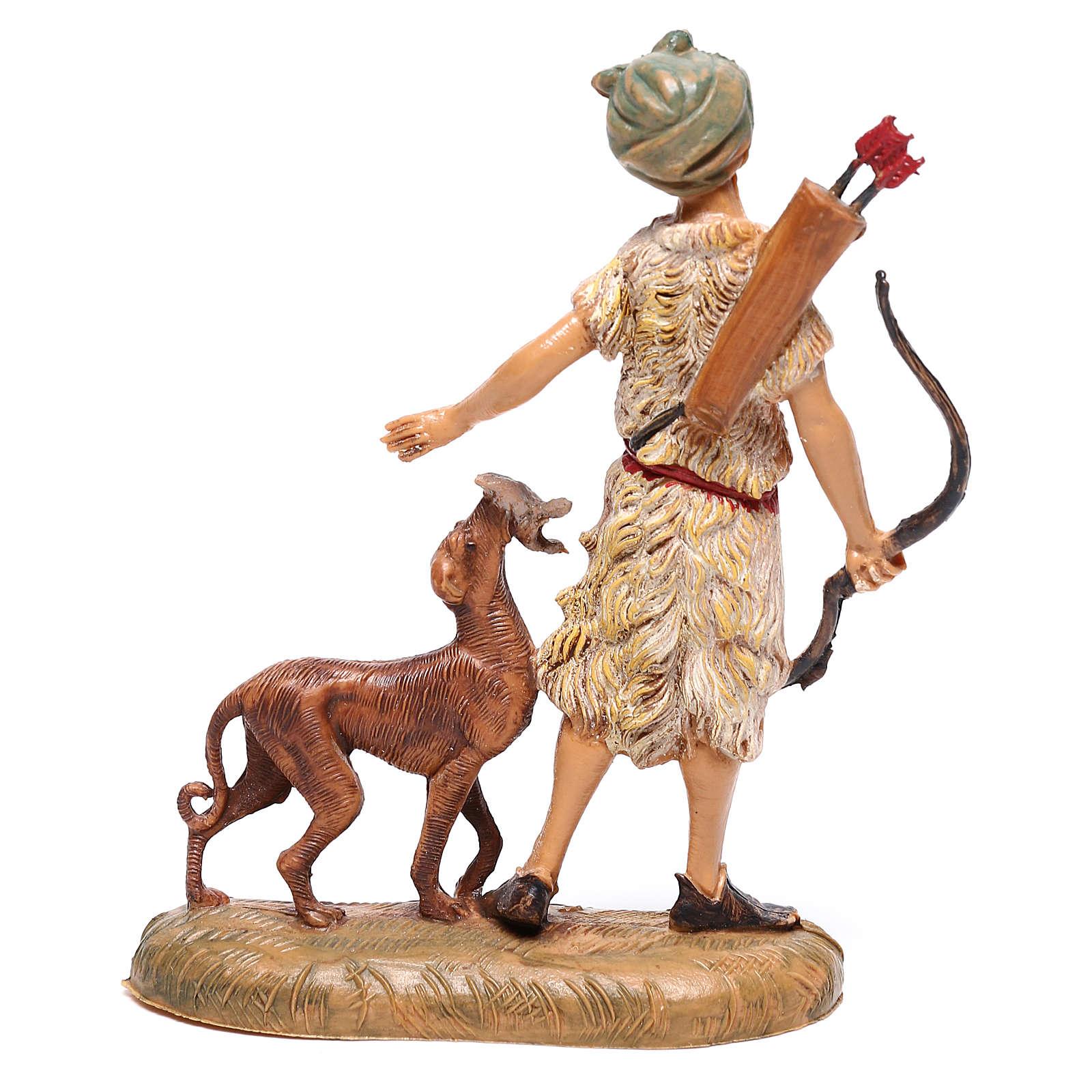 Krippenfiguren J/äger mit Hund geeignet f/ür 12cm Figuren