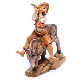 Hirte auf Esel, für 12 cm Krippe von Fontanini s2