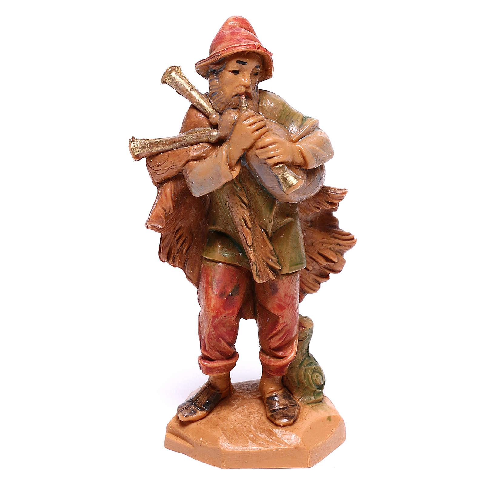 Hirte einen Dudelsack spielend, für 6,5 cm Krippe von Fontanini 4