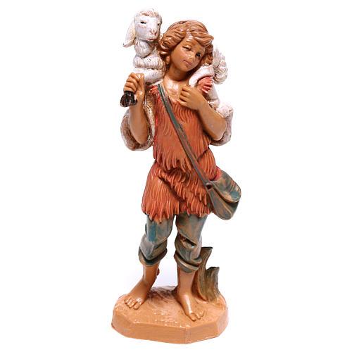 Pastor con oveja sobre las espaldas belén Fontanini 10 cm 1