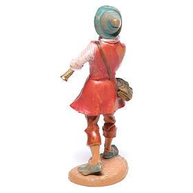 Pastor com flauta para presépio Fontanini com figuras de  10 cm de altura média s2