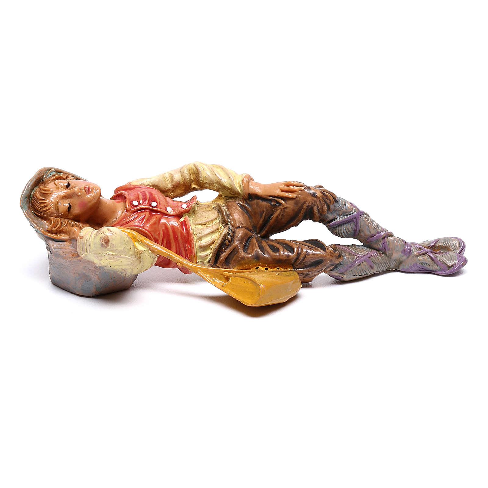 Pastore dormiente presepe Fontanini 10 cm 4