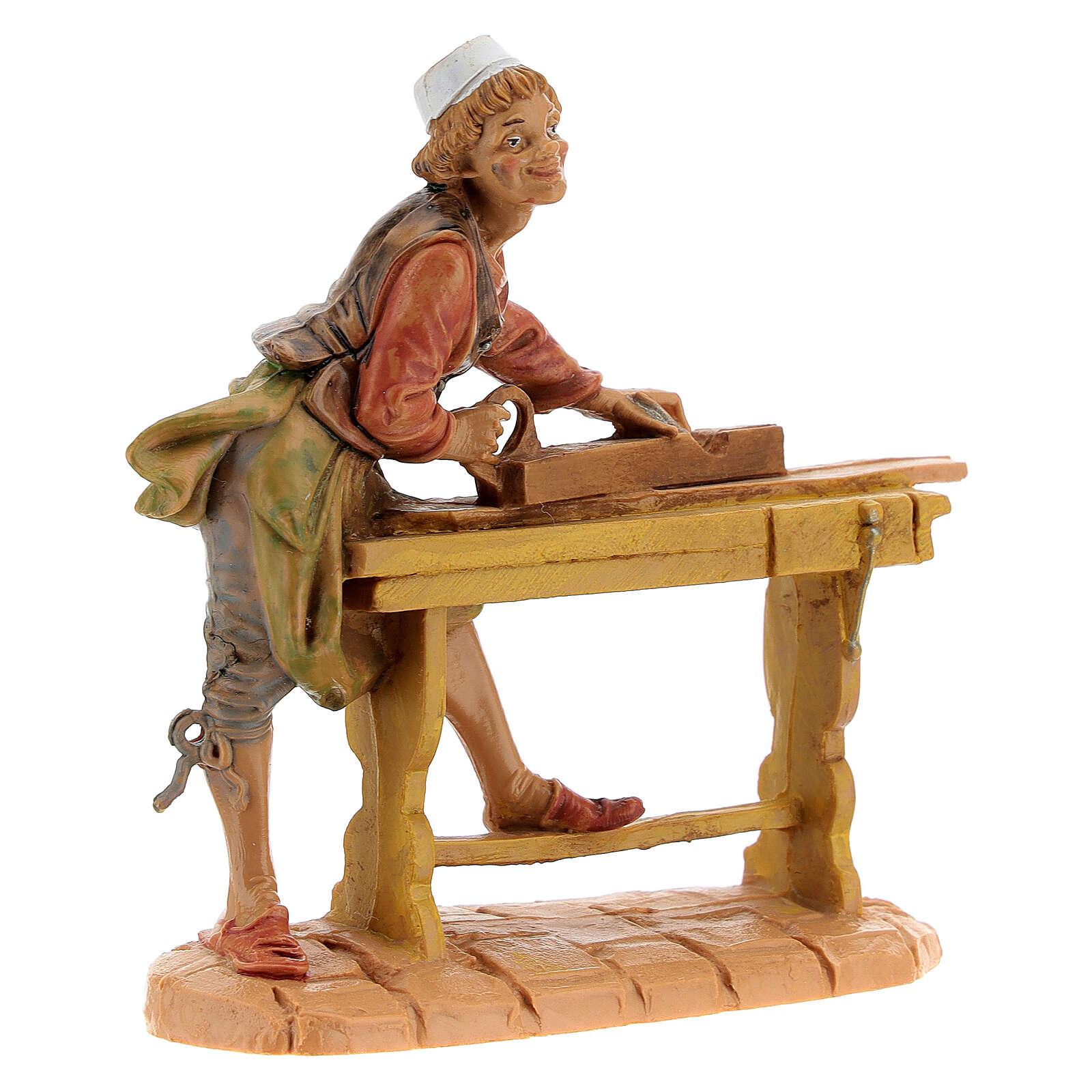 Statuina falegname presepe Fontanini 10 cm 4