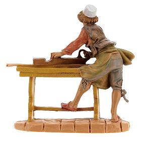 Statuina falegname presepe Fontanini 10 cm s4