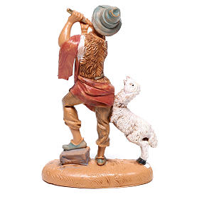 Pastor con flauta y ovejita Fontanini 10 cm s2
