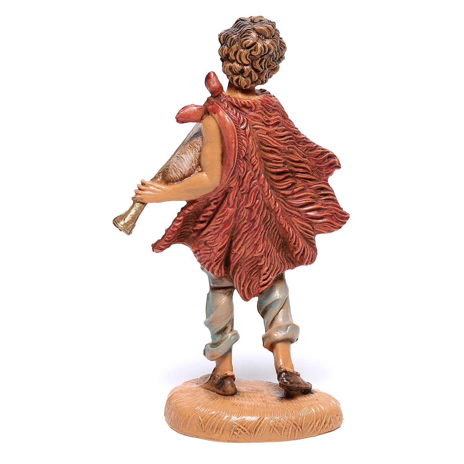Pastor que toca la gaita belén Fontanini 10 cm 4