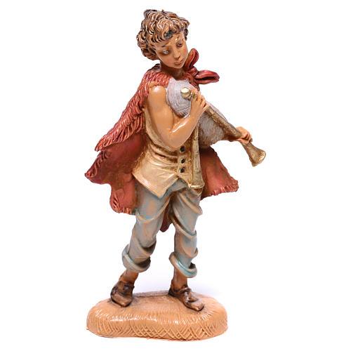 Pasterz grający na zampogna szopka Fontanini 10 cm 1