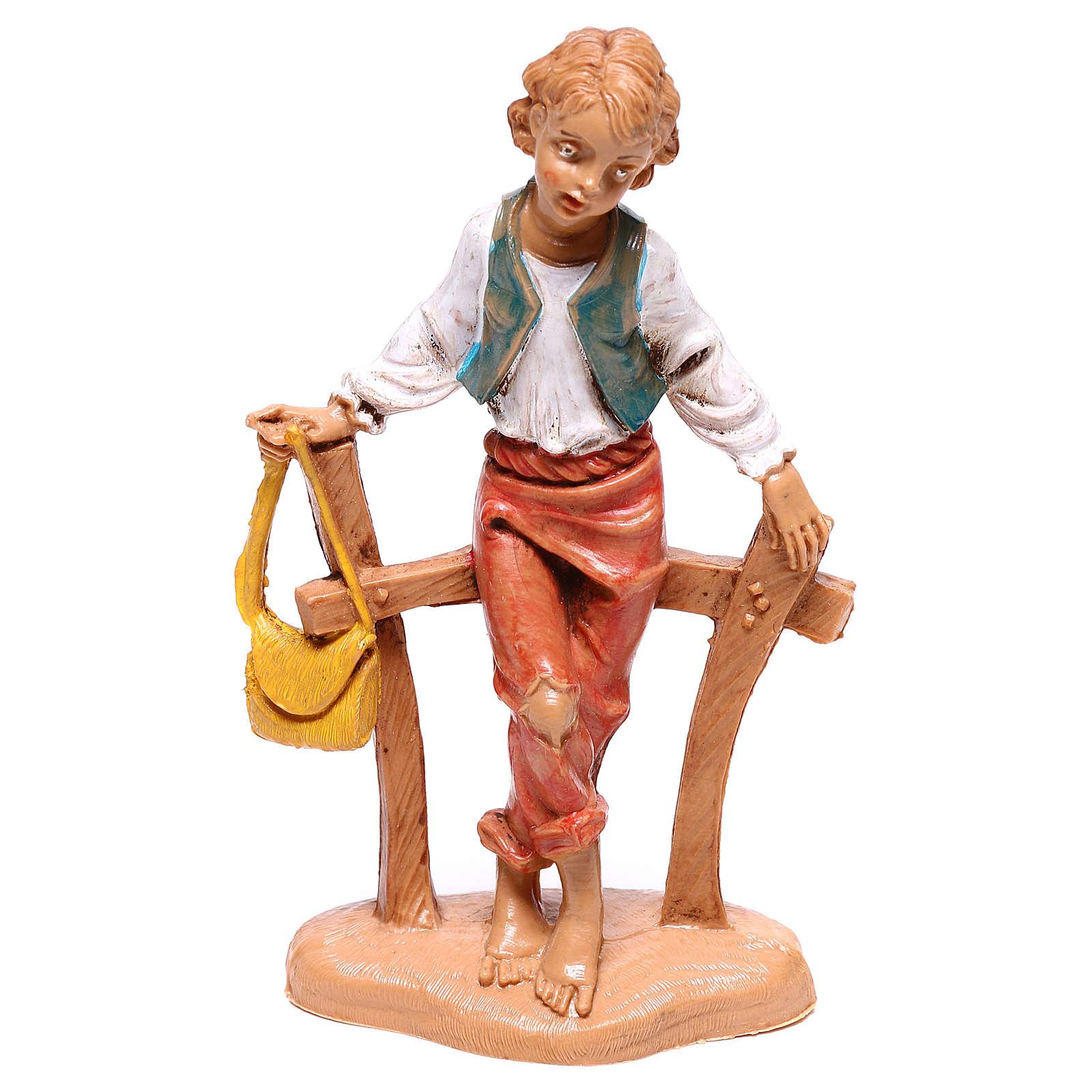 Pastor sentando en la cerca 10 cm Fontanini 4