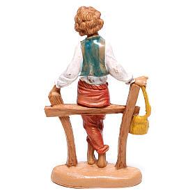 Pastor sentando en la cerca 10 cm Fontanini s2