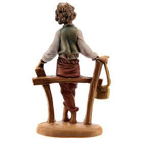 Pastor sentando en la cerca 10 cm Fontanini s3