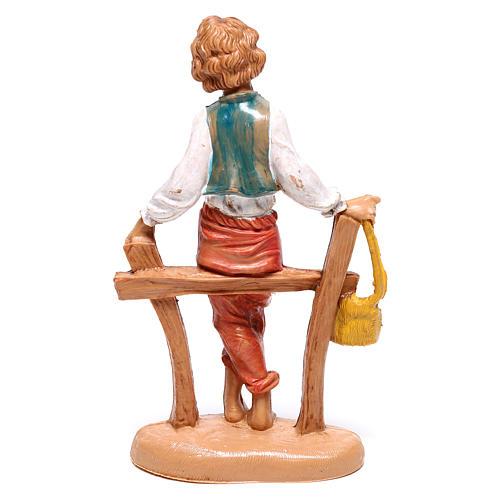 Pastor sentando en la cerca 10 cm Fontanini 2