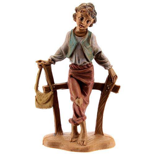 Pastor sentando en la cerca 10 cm Fontanini 1