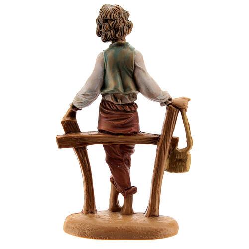 Pastor sentando en la cerca 10 cm Fontanini 3