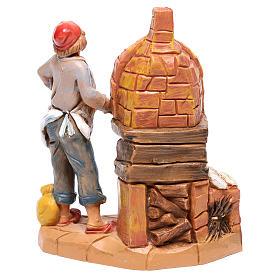 Boulanger avec four crèche Fontanini 10 cm s2