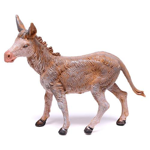Burro de pé para presépio Fontanini com figuras de 10  cm de altura média 1