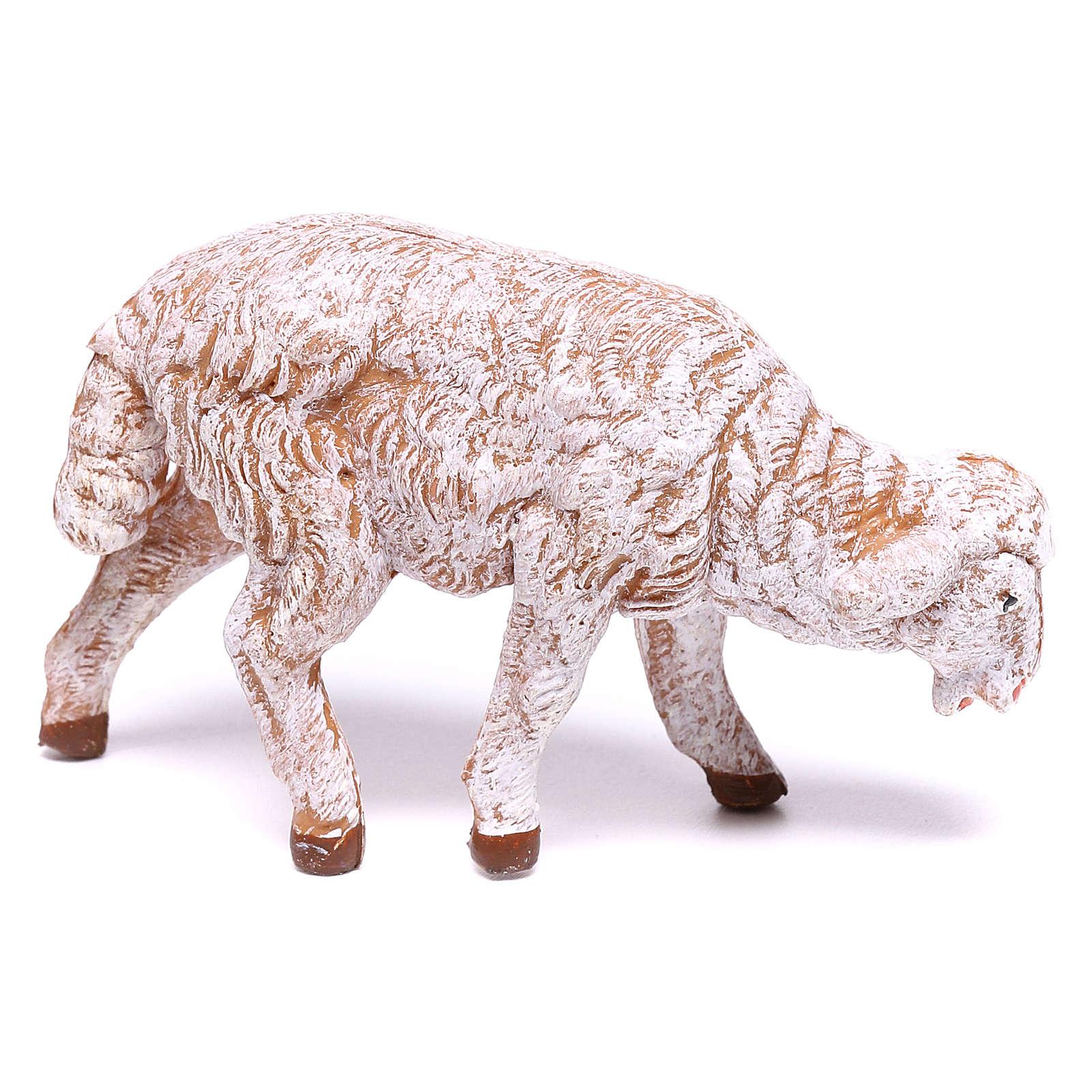 Ovelha branca para presépio Fontanini com figuras de 12 cm de altura média 4
