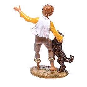 Jeune garçon avec chien crèche Fontanini 4 cm s2