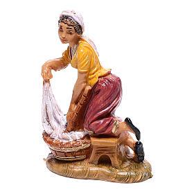 Lavandière à genoux crèche Fontanini 4 cm s1